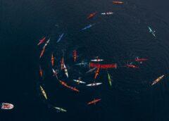 Argentina y Chile unidos en el Canal Beagle por un reclamo en común: «No a las Salmoneras»
