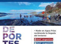 """USHUAIA: COMENZARON CON LOS FESTEJOS POR LA NOCHE MÁS LARGA CON EL """"NADO EN AGUAS FRÍAS"""" EN EL CANAL BEAGLE"""